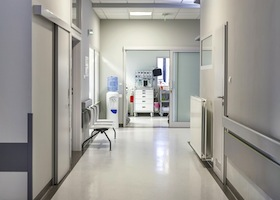 medical facilities with shinny new flooring