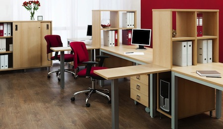 Delicieux Office Space With Hardwood Flooring
