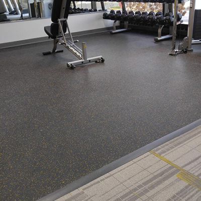 Gym Workout Flooring Built by DUNCAN for Commercial Project