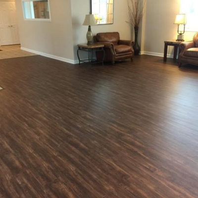 Duncan Flooring Residential Projects Living Room With Dark Wood Flooring