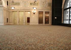 carpeted ballroom