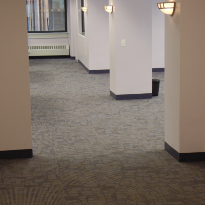 new carpet in new building
