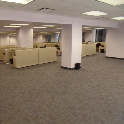 new carpet in office space