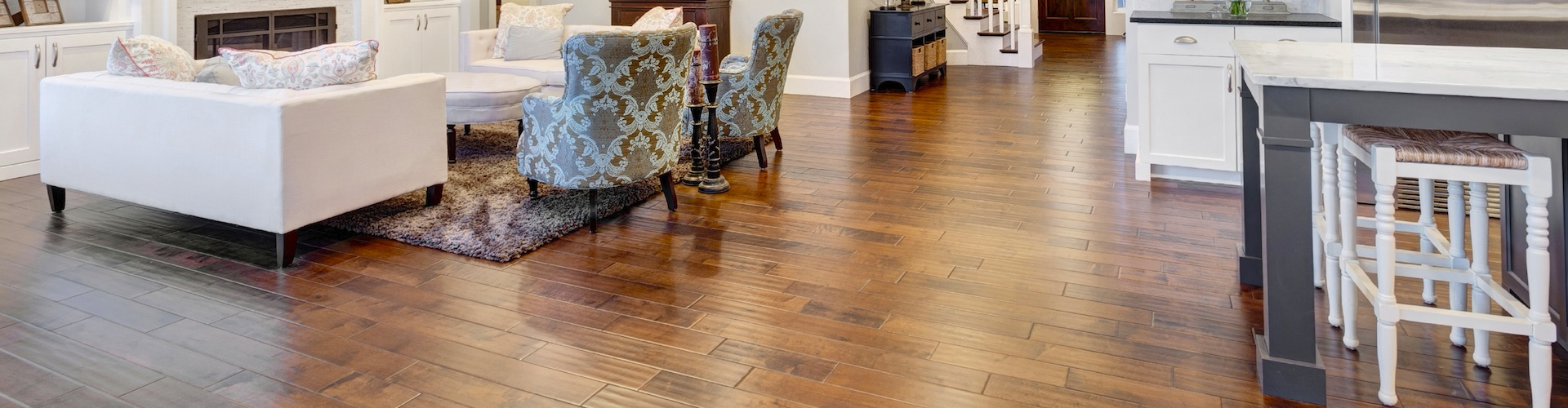Northbrook flooring specialist duncan hardwood flooring living room in luxury home doublecrazyfo Image collections