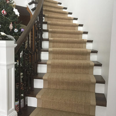 Duncan Flooring Residential Projects Stair Way Lined With Carpet