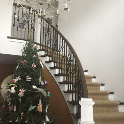 Duncan Flooring Residential Projects Stair Way With Chandeliers